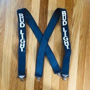Vintage Bud Light Suspenders